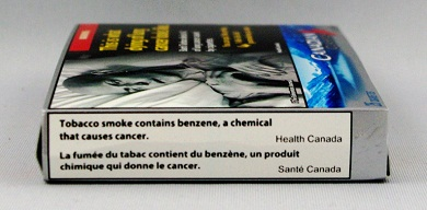Canada 2012 emission label on pack