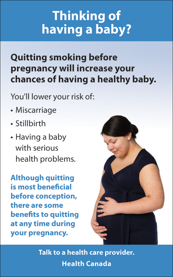 Quitting - interior message, pregnancy - eng