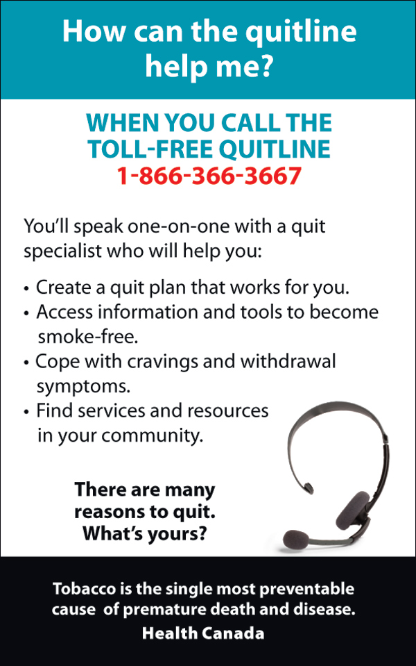 Quitting - interior message, quitline - eng