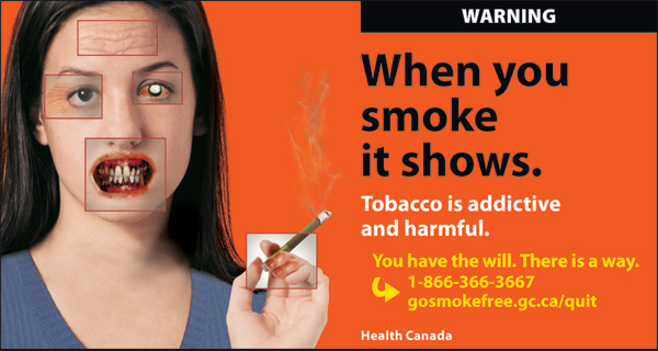 Canada 2012 Health Effects other - targets young women, physical effects of smoking - cigars eng