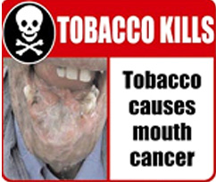 India 2006 Health Effects Mouth - mouth cancer, gross, skull symbol