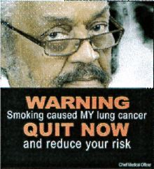 Jamaica 2013 Quitting - quit now, lived experience, lung cancer (front)