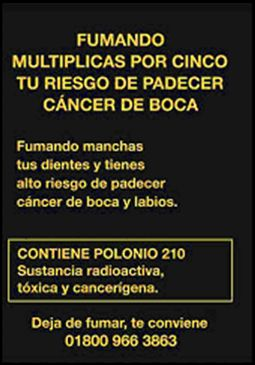 Mexico 2009 Health Effects mouth - mouth cancer, loss of teeth, diseased organ, gross (Back)
