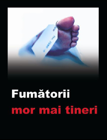 Romania 2008 Health Effects death - lived experience, toe tag, die younger, Romanian
