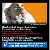 Switzerland 2014-2016 Consituents - lived experience, benzene, nitrosamines, formaldehyde, hydrogen cyanide