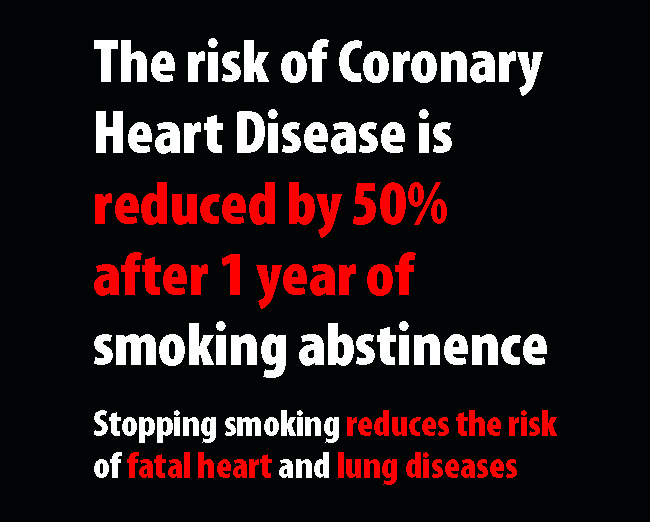 UK 2008 Quitting - health benefits, coronary heart disease, plain warning