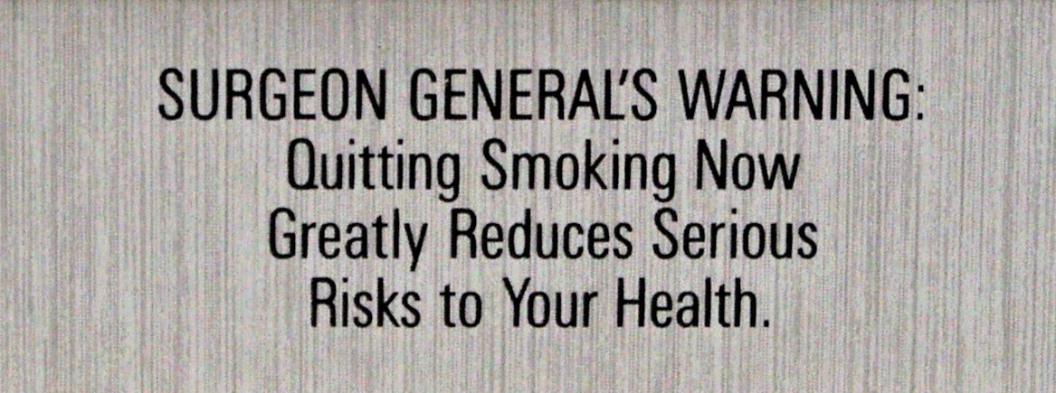 USA 1984 Quitting - Reduced risk, text