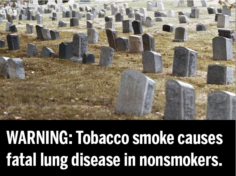 USA 2010 ETS general - second hand smoke, lung disease, grave image