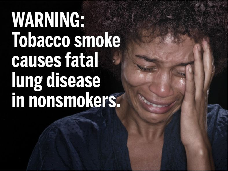 USA 2010 ETS general - second hand smoke, lung disease, woman crying