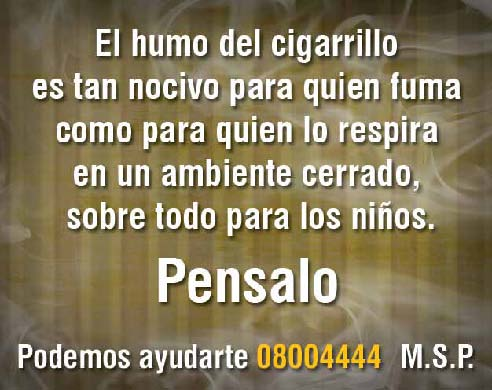 Uruguay 2008 ETS children - second hand smoke, harmful for children back