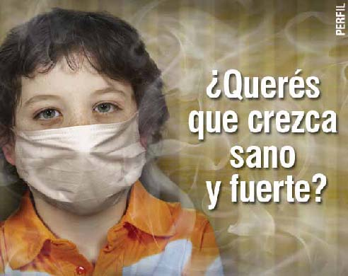 Uruguay 2008 ETS children - second hand smoke, harmful for children